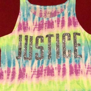 Glitter Justice tank top